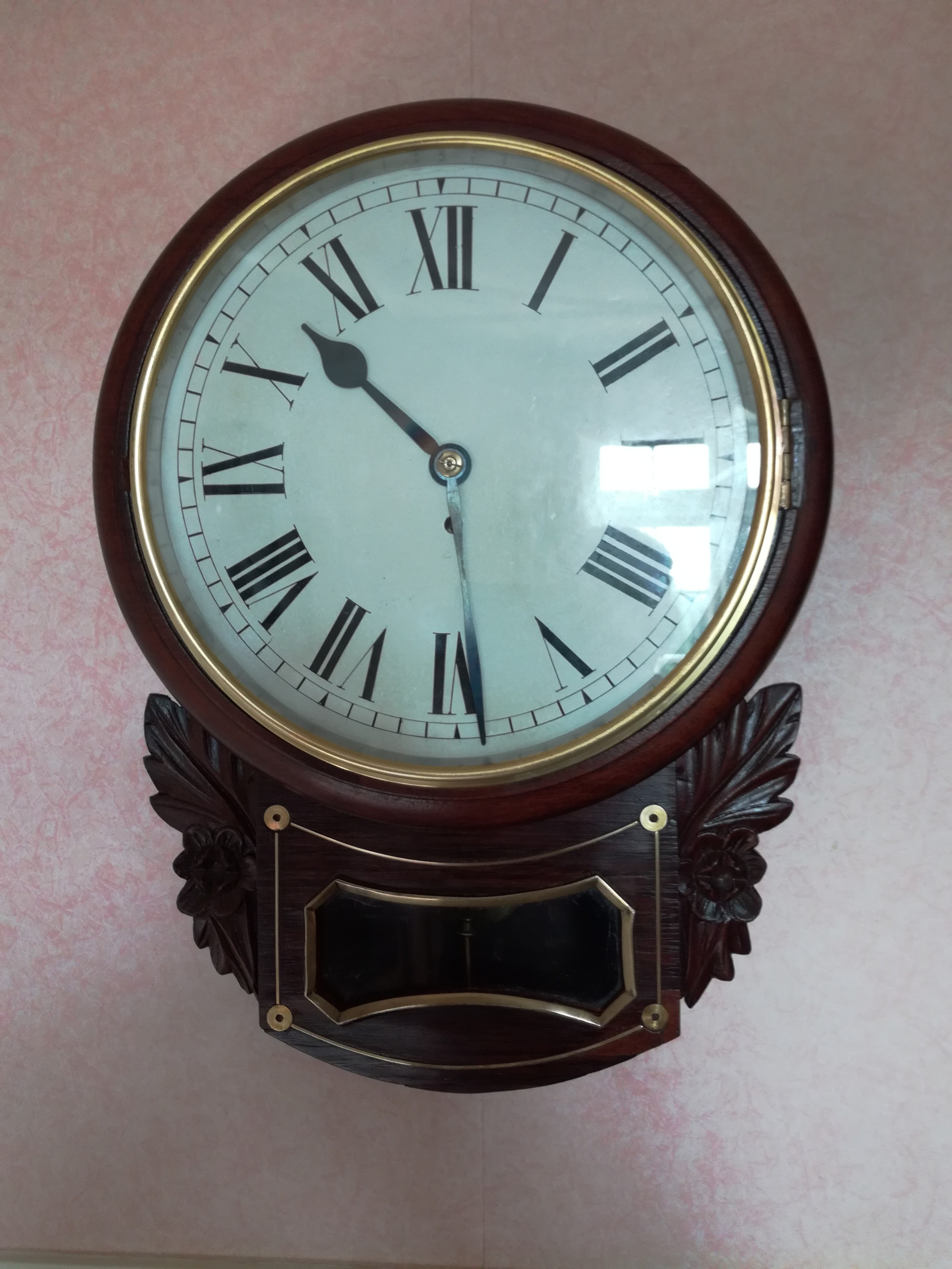 rosewood fusee dropdial wall clock