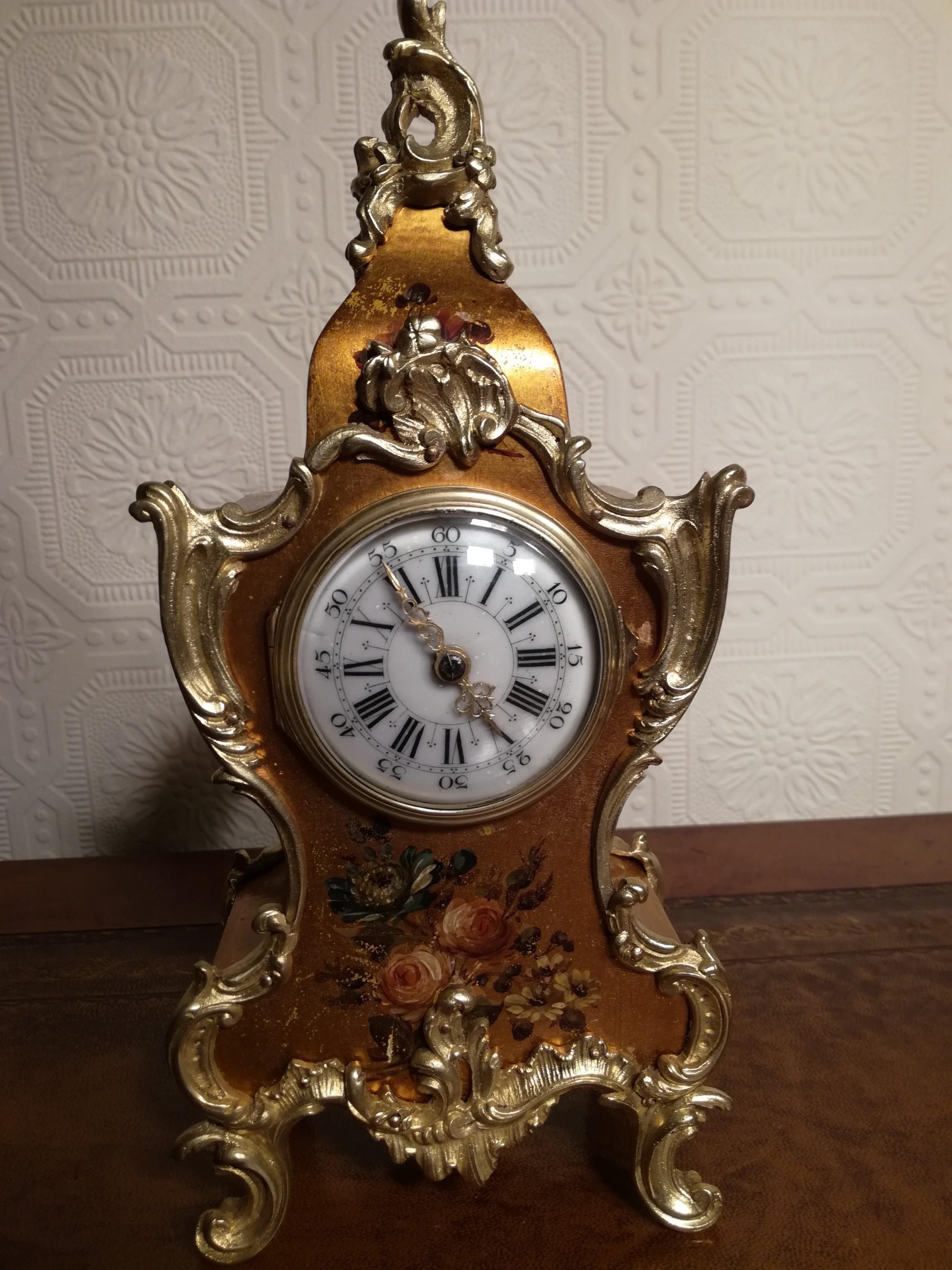 petite vernis martin manteltable clock