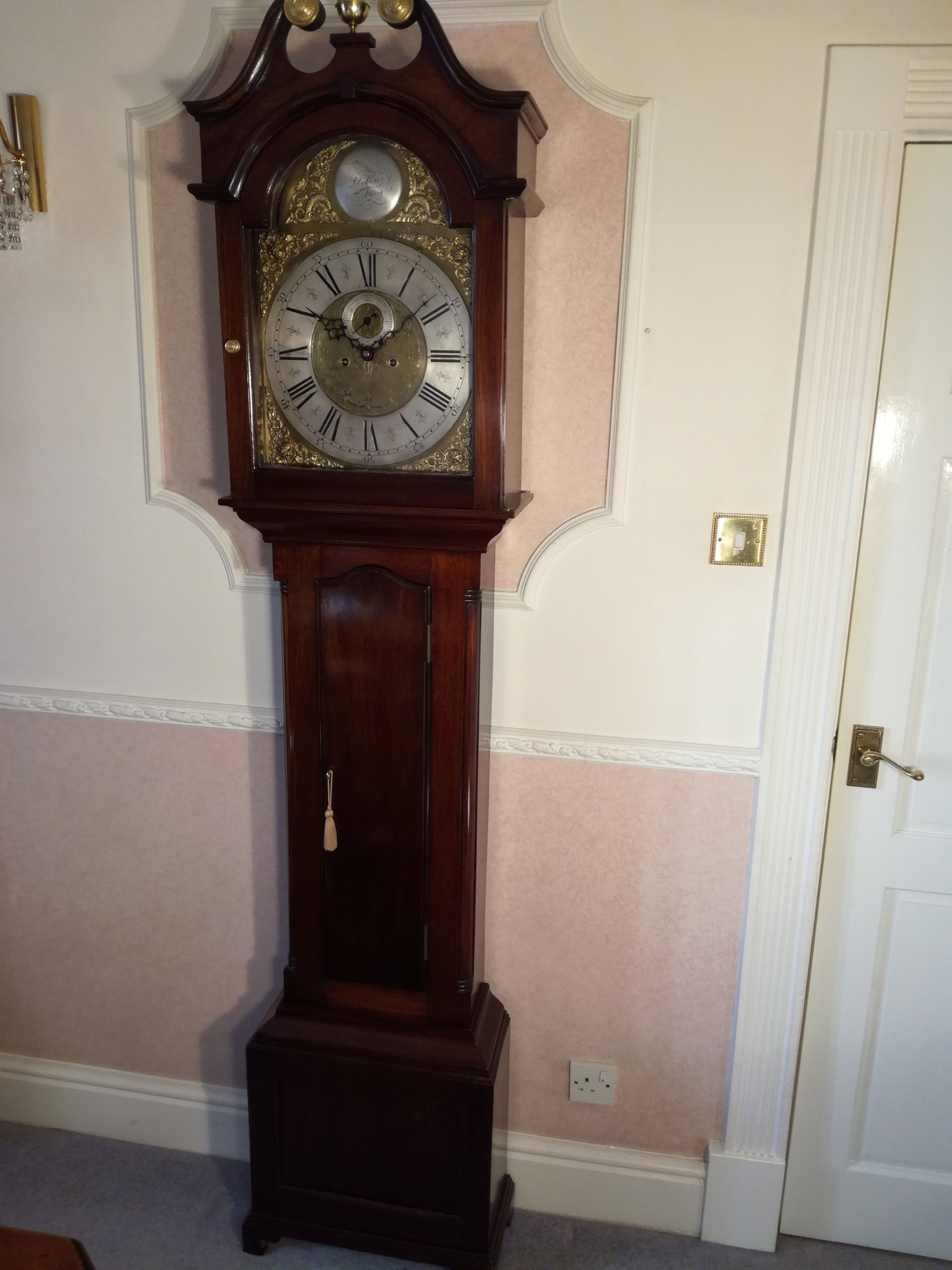 superb geo3rd scottish longcase clockdobbie of falkirk