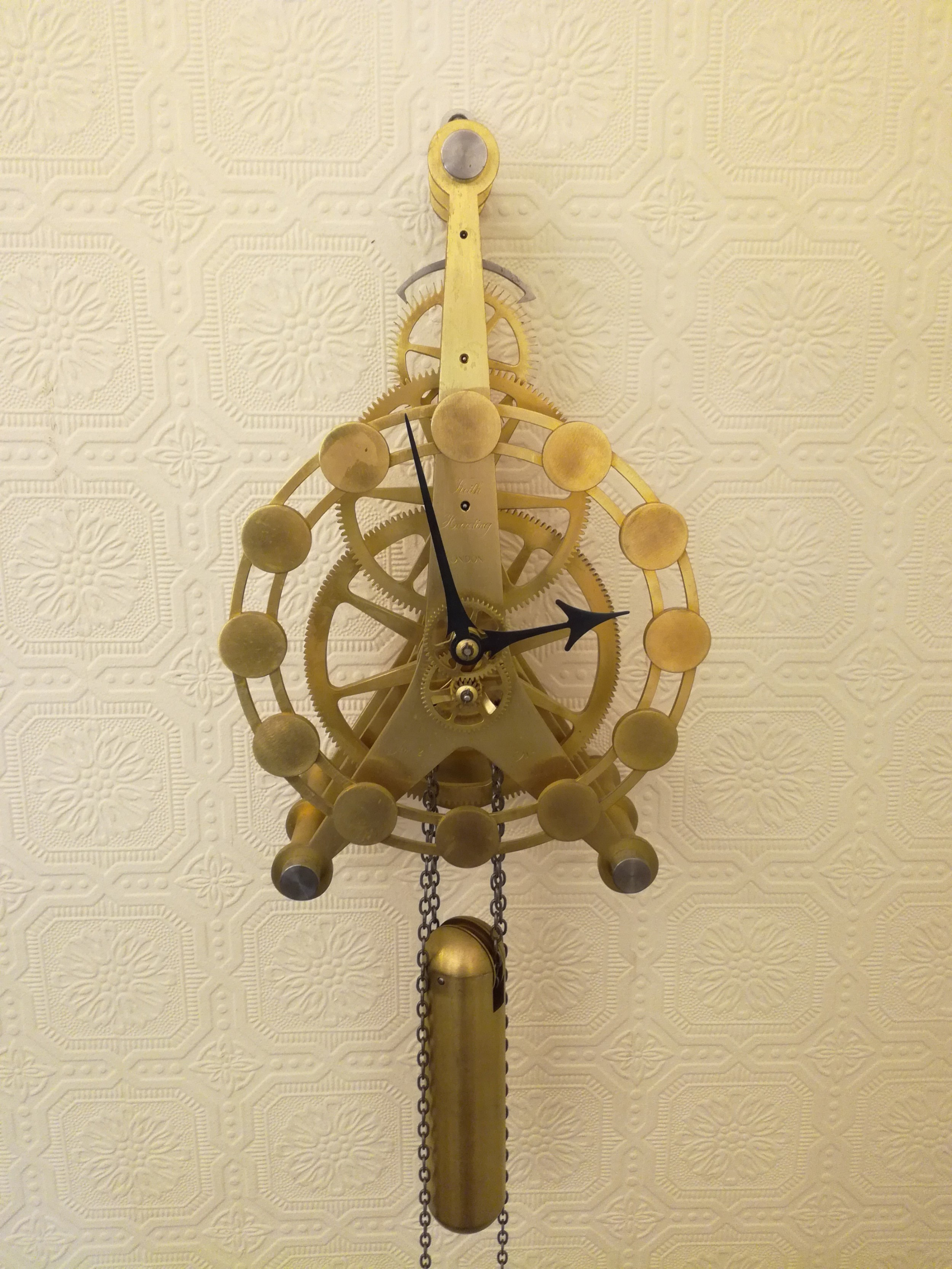 unique skeleton wall clock