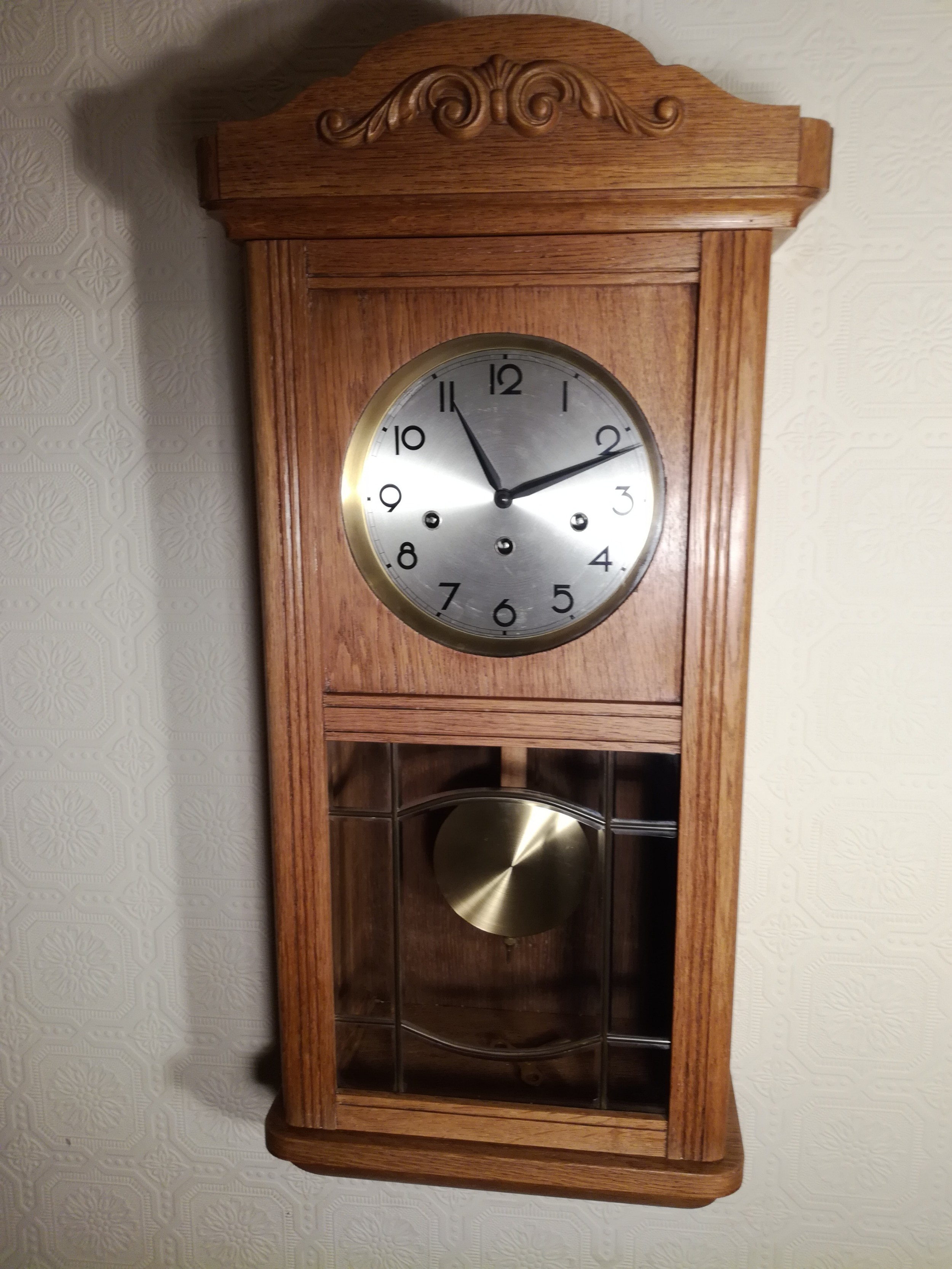 arts crafts period westminster chime wall clock