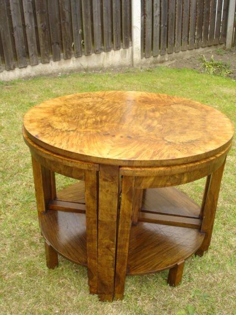 Art Deco Burr Walnut Nest Tables Coffee Table 121996