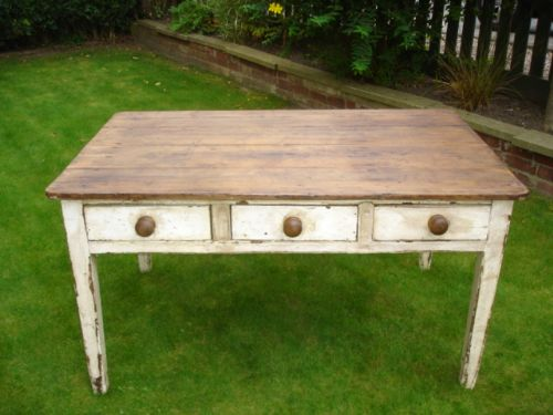 Antique Painted Pine Kitchen Table Dining Table Farmhouse Table ...