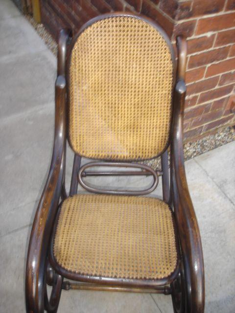 Antique Thonet Bentwood Rocking Chair Armchair | 195231 |  Sellingantiques.co.uk
