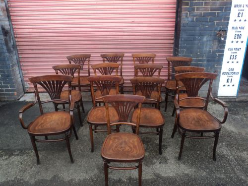 antique set 13 bentwood chairs kitchen chairs cafe bistro chairs - Antique Set 13 Bentwood Chairs Kitchen Chairs Cafe Bistro Chairs