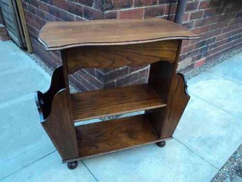 Bon Antique Oak Magazine Table Canterbury Side Table Bookcase