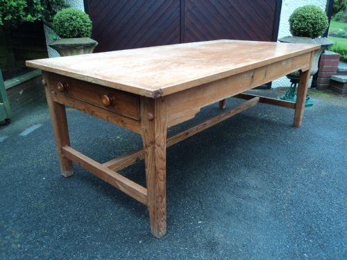 large antqie pine farmhouse dining table kitchen table 7ft long rh sellingantiques co uk Antique Farmhouse Kitchen Sinks Antique Farmhouse Table and Chairs