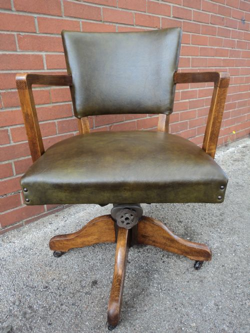 antique leather upholsted swivel office chair desk chair antique leather swivel desk chair