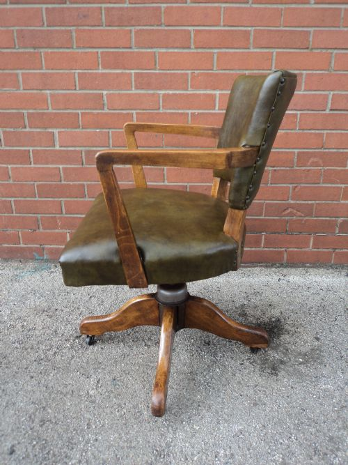 vintage swivel chairs antique leather upholsted swivel office chair desk chair 3259