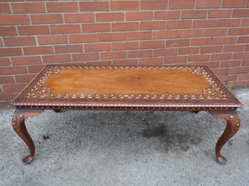 Amazing Antique Inlaid Anglo Indian Coffee Table