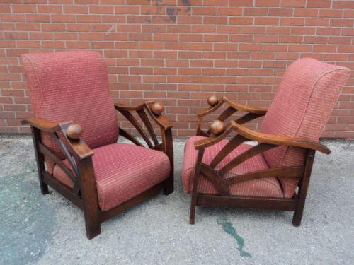 Pair Art Deco Reclining Armchairs | 233714 ...