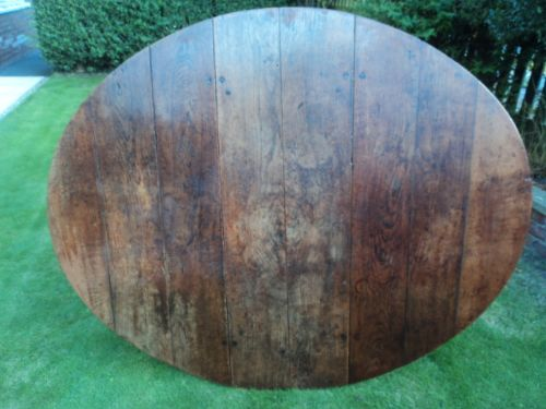 early 18th century oak drop leaf dining table kitchen table - photo angle #10