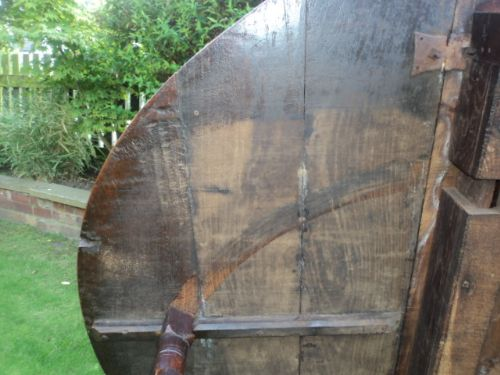 early 18th century oak drop leaf dining table kitchen table - photo angle #11