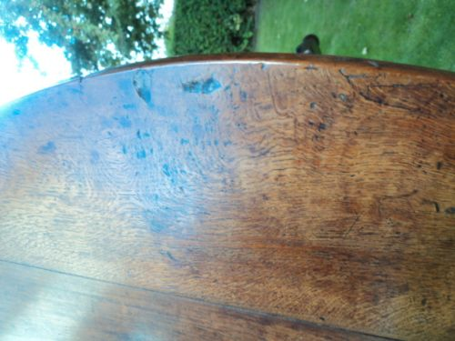 early 18th century oak drop leaf dining table kitchen table - photo angle #15