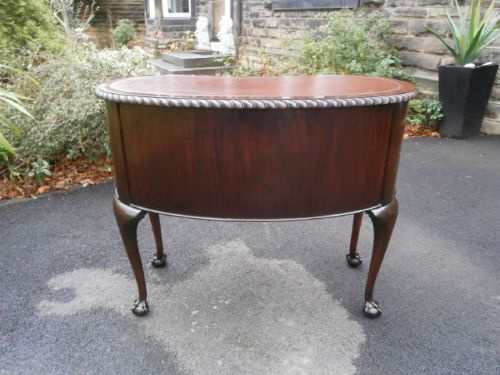 Antique mahogany kidney shaped writing desk writing table for Kidney desk for sale