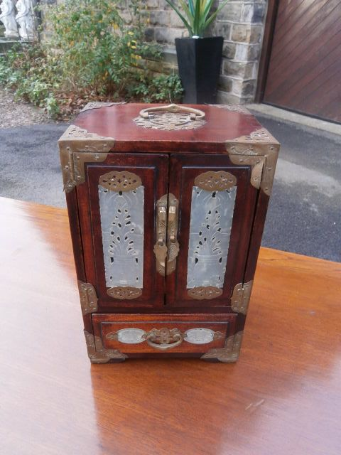 antique oriental chinese table cabinet chest jewellery box & Antique Oriental Chinese Table Cabinet Chest Jewellery Box ... Aboutintivar.Com