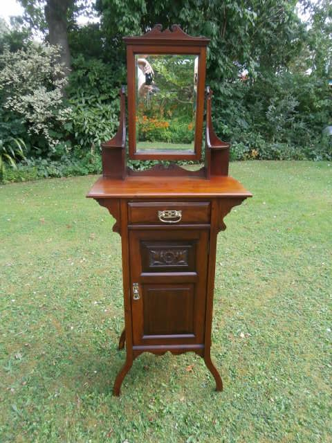 Antique Walnut Vanity Stand Wash Stand Shaving Stand Dressing Table 292673 Sellingantiques Co Uk