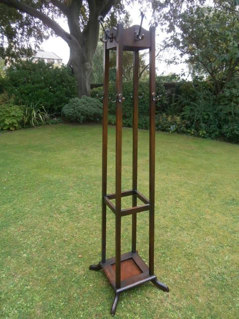 Antique Oak Hall Stand Hat Amp Coat Stand Stick Umbrella