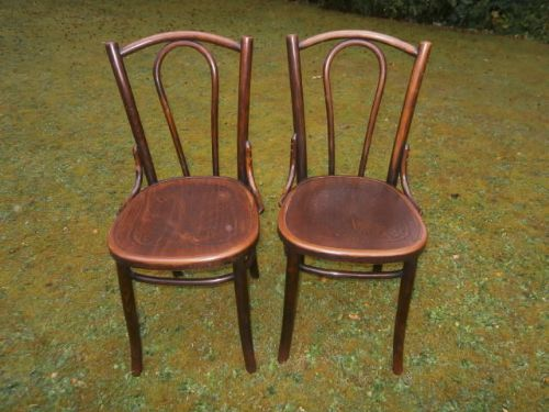Genial Pair Antique Bentwood Chairs Caf Chairs