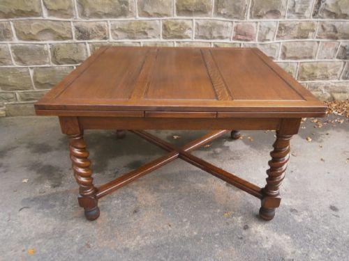 Large Antique Oak Barley Twist Extending Dining Table  : dealermattissefull1414083375320 3445041576 from www.sellingantiques.co.uk size 500 x 375 jpeg 33kB