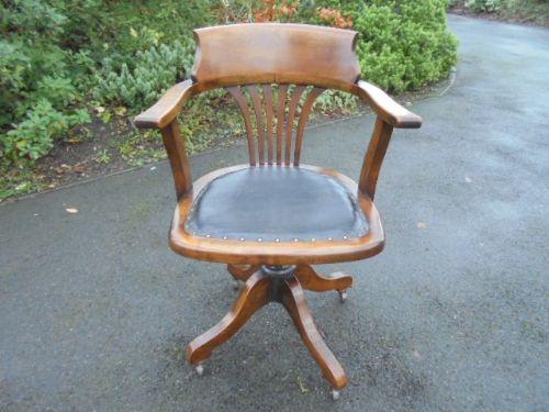 Antique Swivel Desk Chair Office Chair
