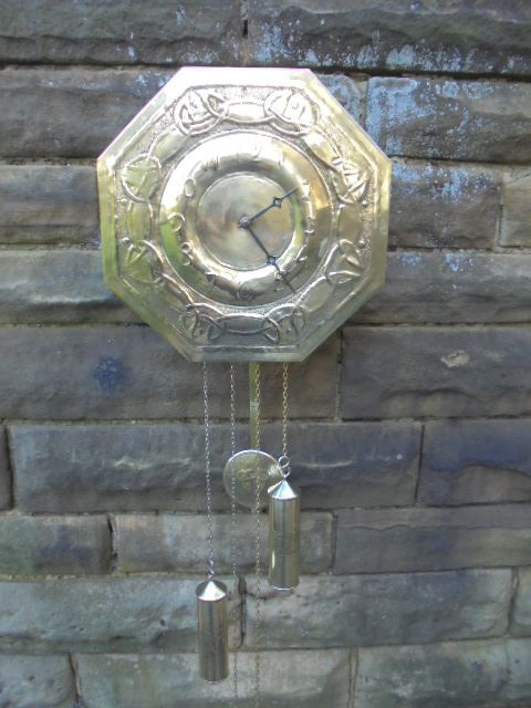 art crafts glasgow school wall clock manner of margaret gilmour