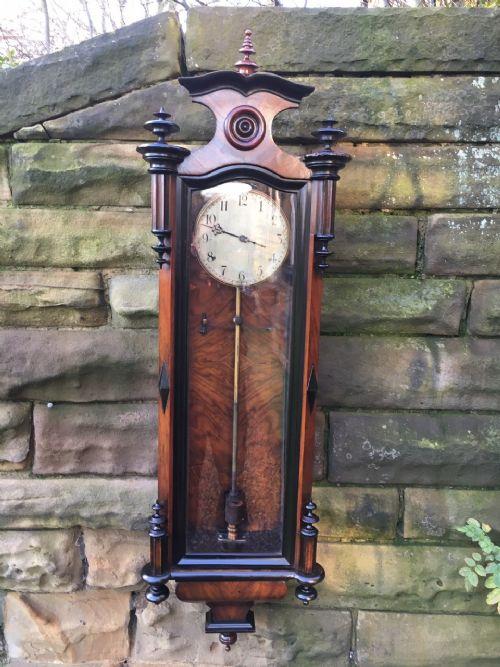 antique electric vienna regulator clock