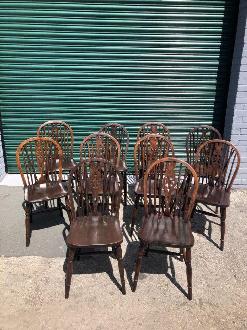 harlequin set 10 ash elm kitchen chairs