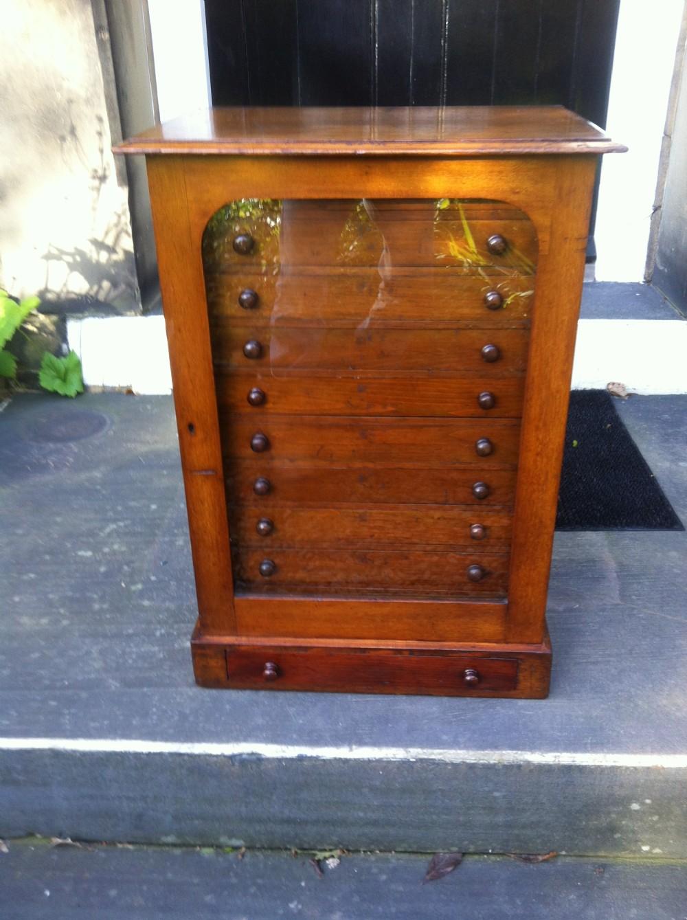 antique collectors chest specimen cabinet - Antique Collectors Chest Specimen Cabinet 246896