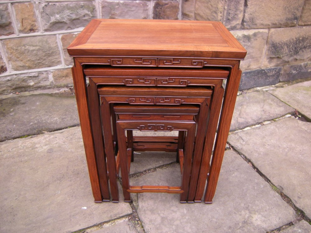 Antique oriental chinese nest 4 tables 266698 sellingantiques antique oriental chinese nest 4 tables watchthetrailerfo