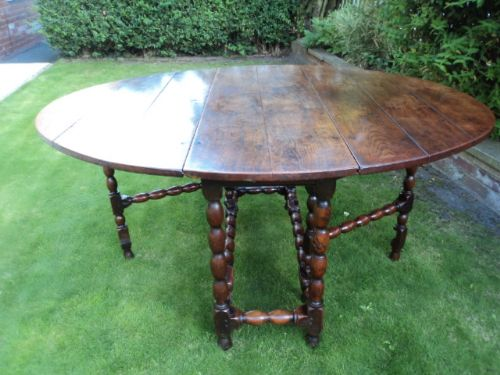 early 18th century oak drop leaf dining table kitchen table