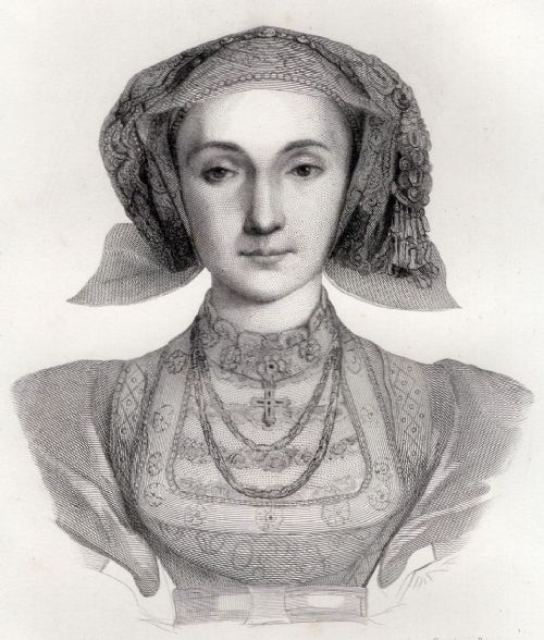 engraving of anne of cleves