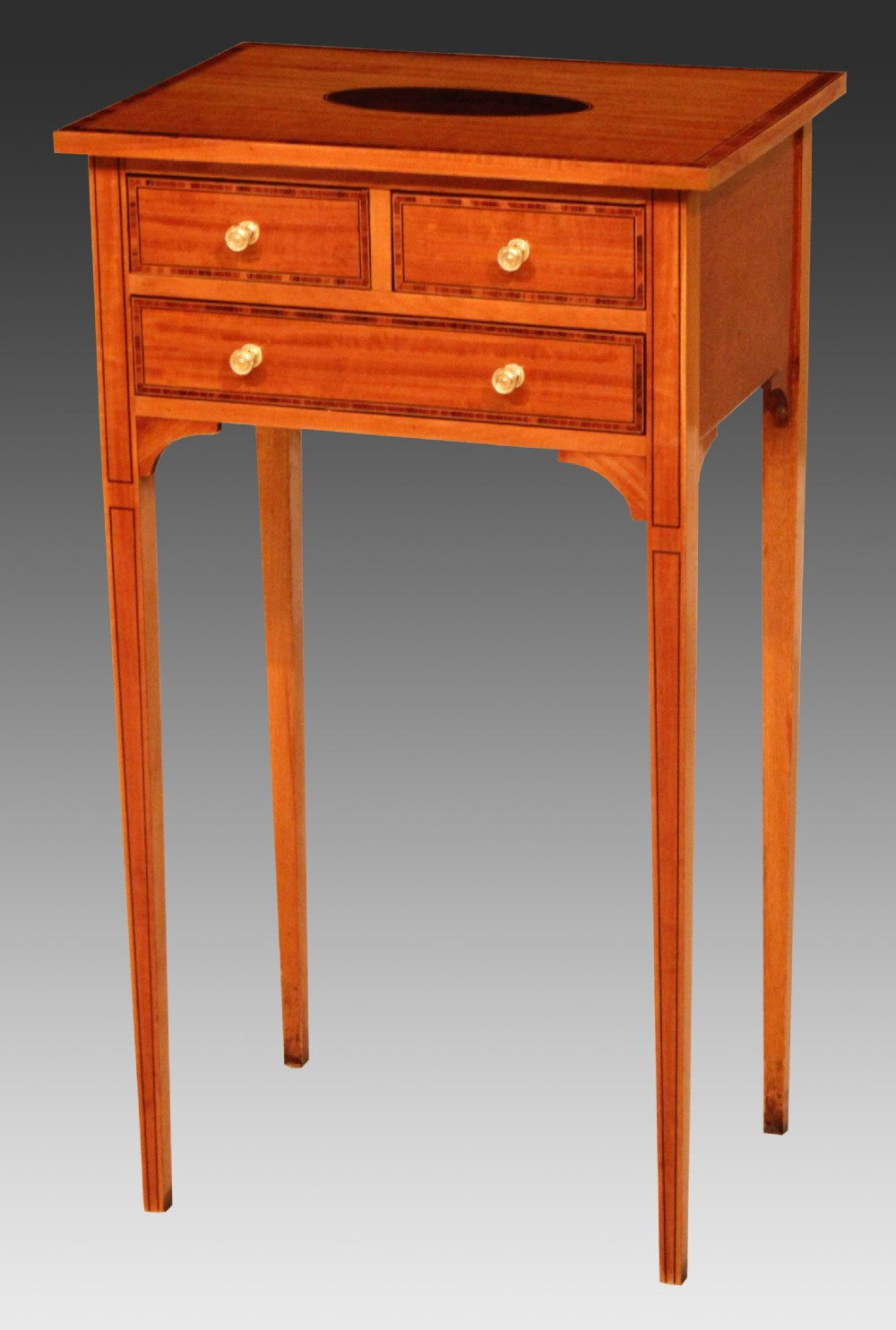 the quality edwardian satinwood inlaid side table
