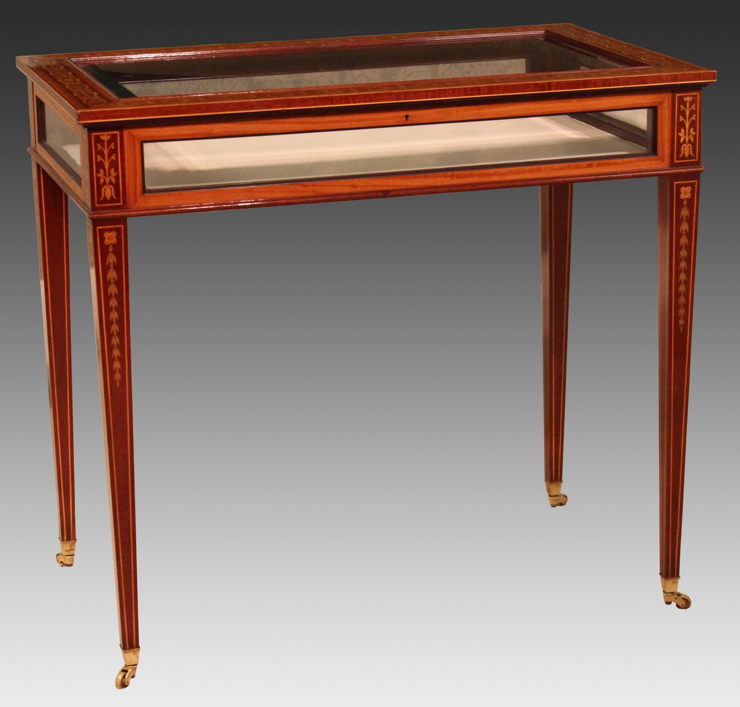 an edwards roberts fine quality late victorian mahogany inlaid rectangular bijouterie table