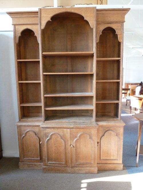 gothic bookcase - Gothic Bookcase 112819 Sellingantiques.co.uk