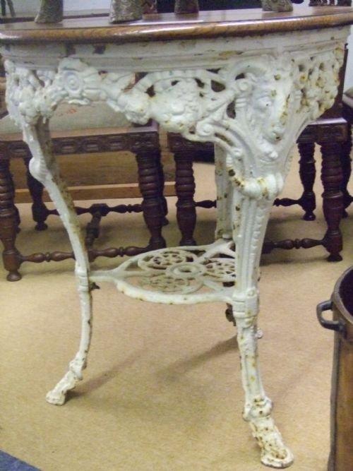 Victorian Cast Iron Pub Table 51698 Sellingantiques Co Uk