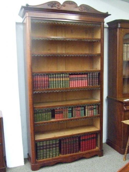 victorian tall bookcase
