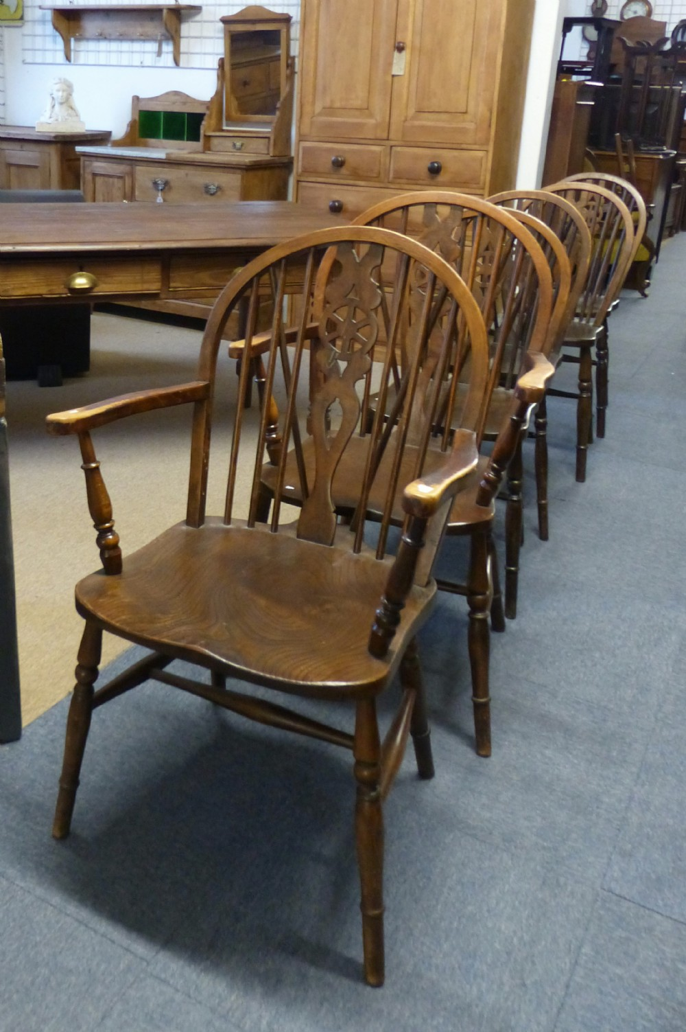 6 country chairs