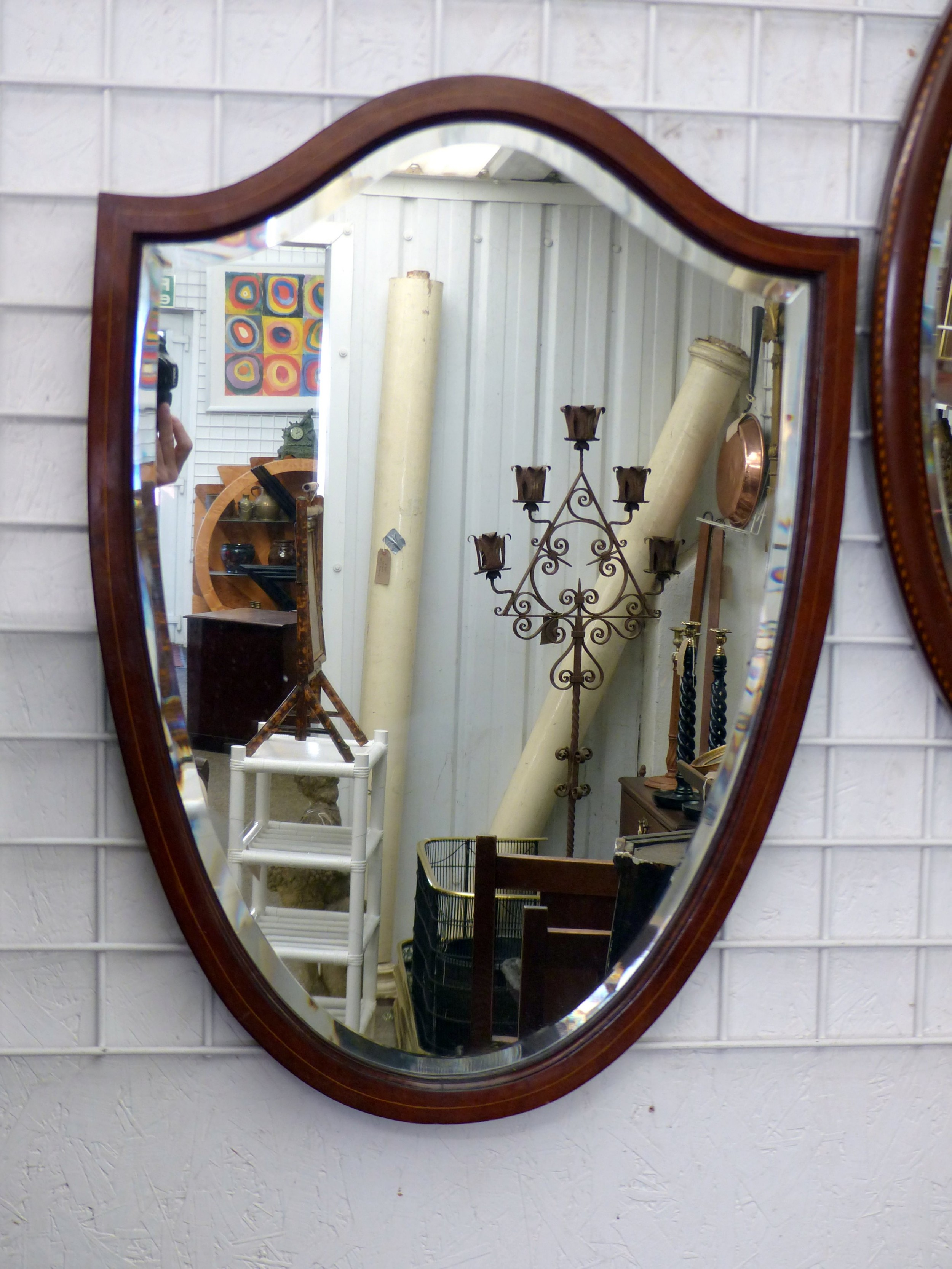edwardian shield mirror