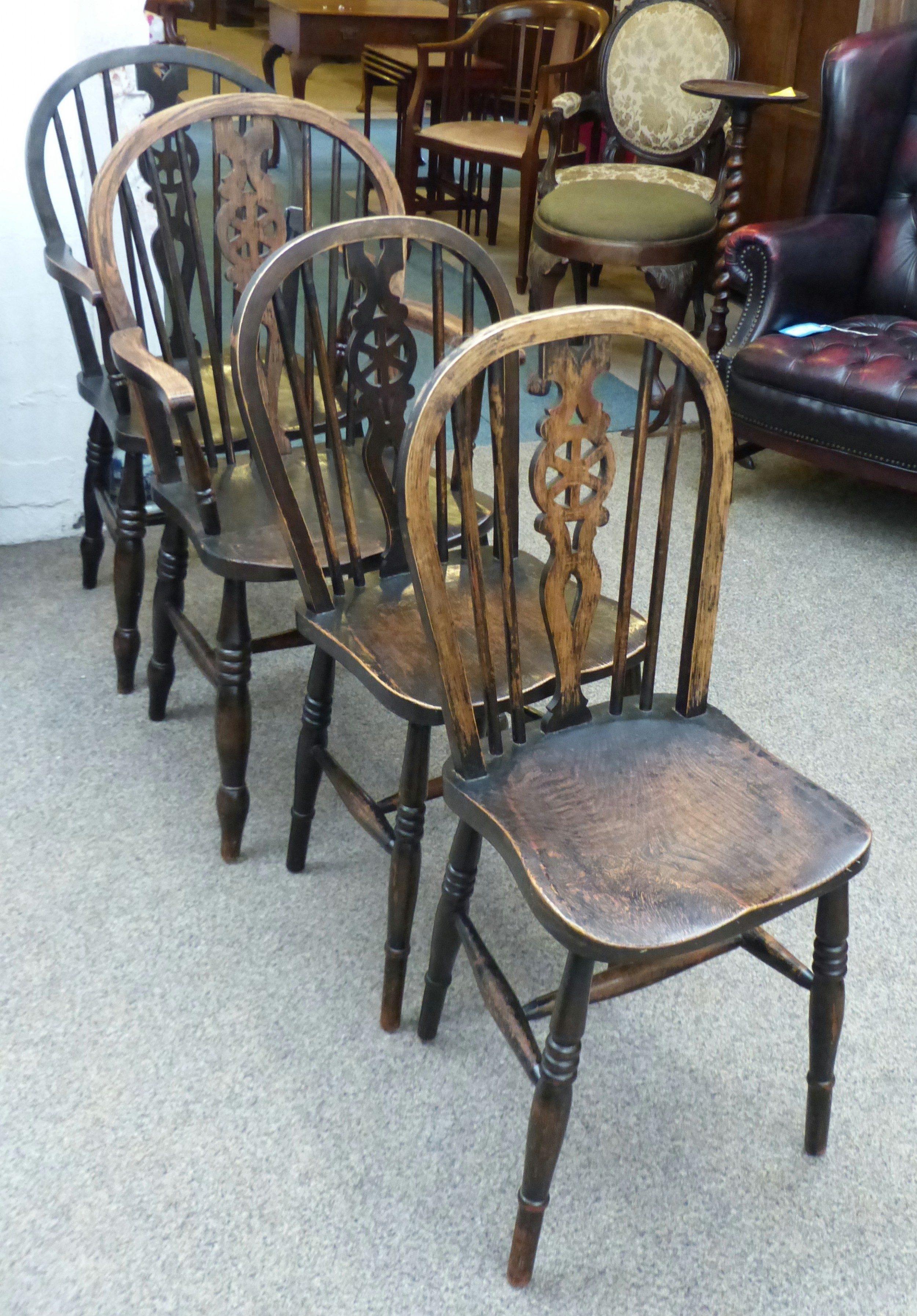 4 country chairs