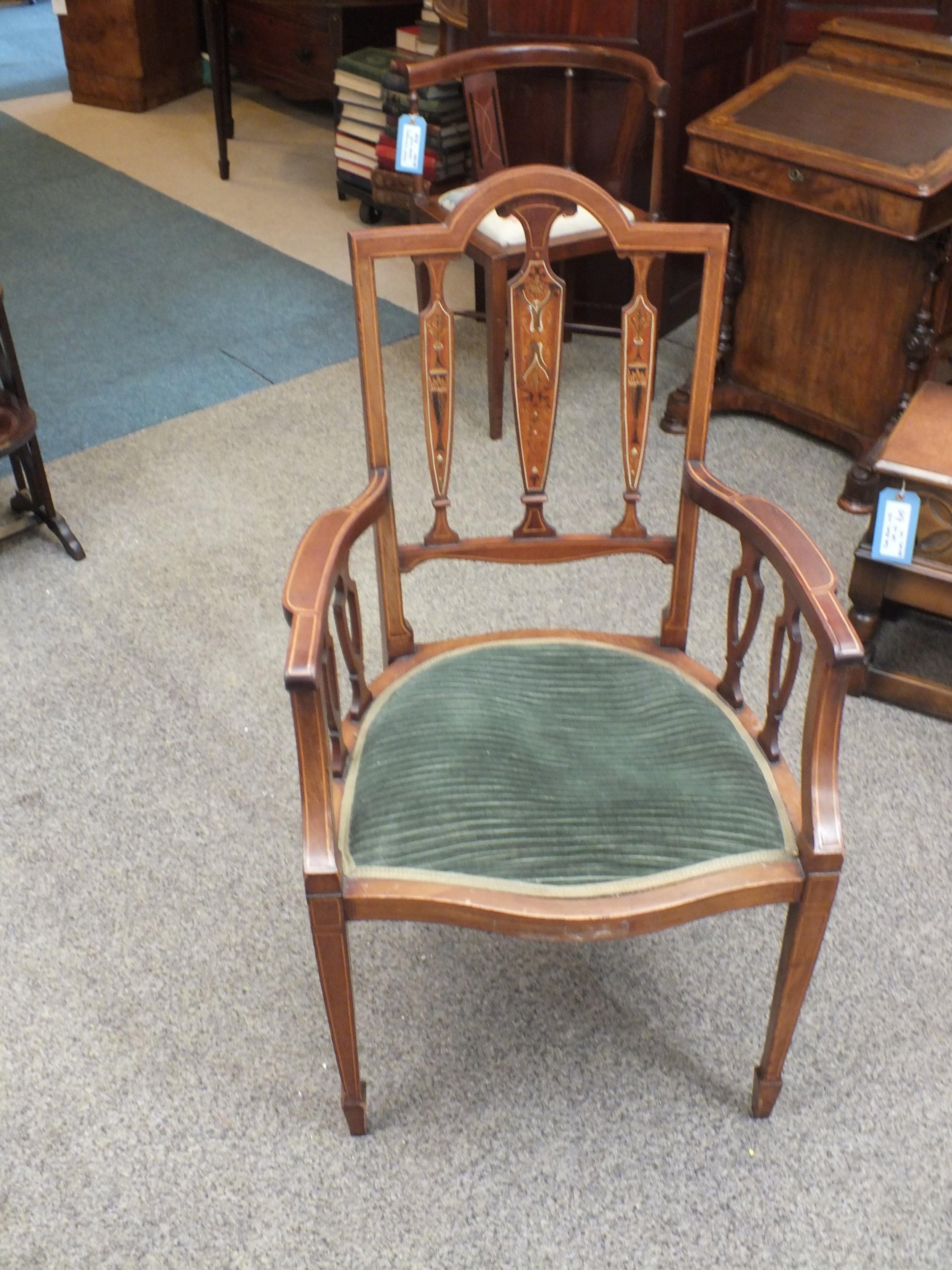 edwardian inlaid chair