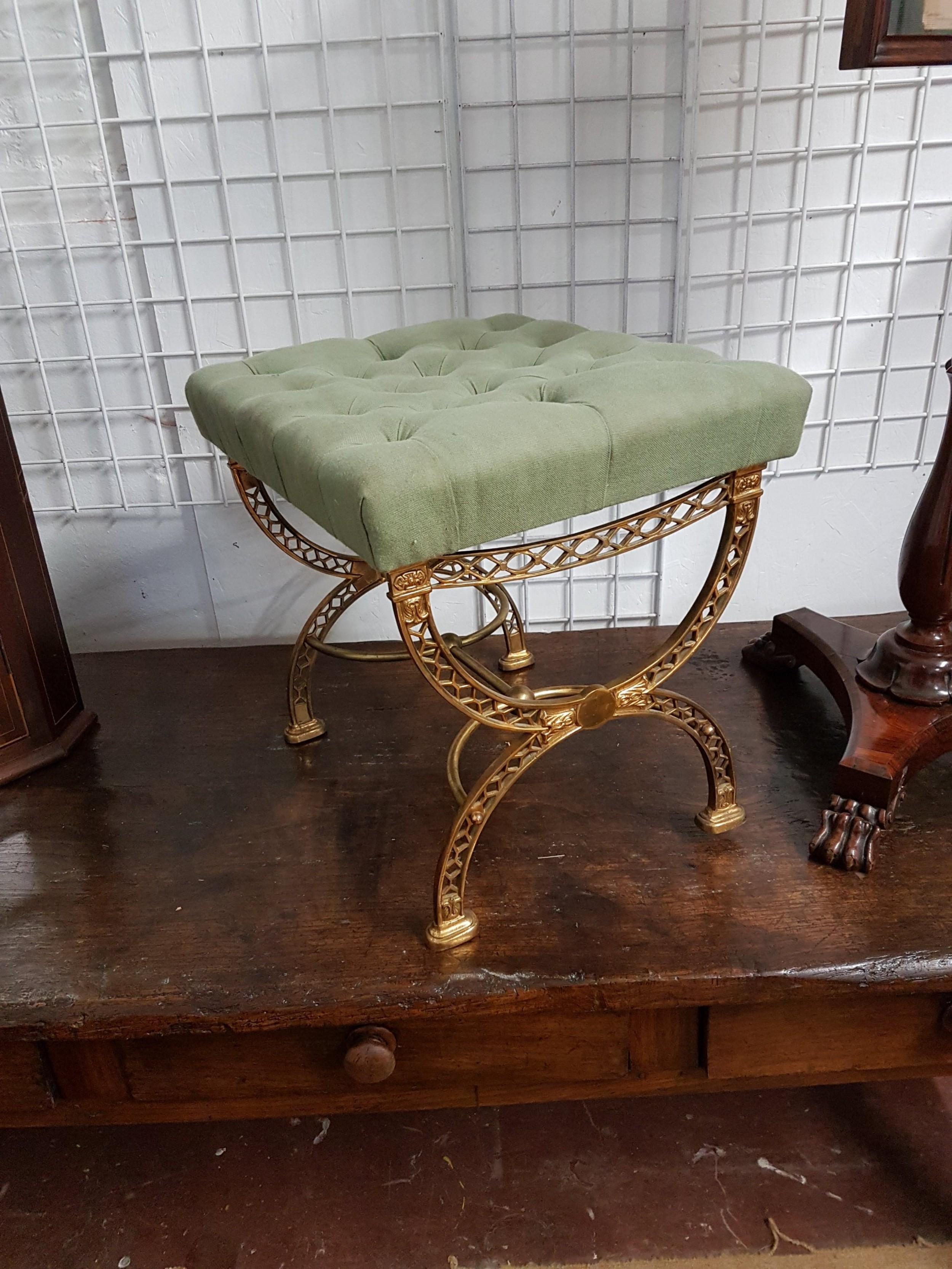 gilt brass stool