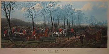 set of four large hunting prints after sturgess - photo angle #2