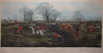 set of four large hunting prints after sturgess - photo angle #3