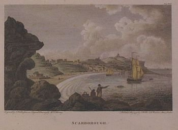 scarborough yorkshire old print published 1798