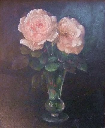 gt bowen roses oil painting