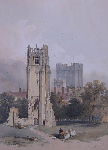 william richardson richmond yorkshire old lithograph 1850