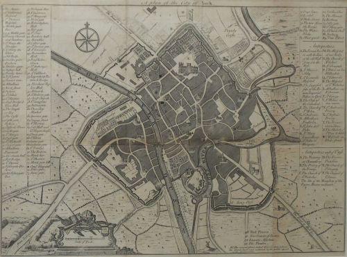 old plan of york circa 1736