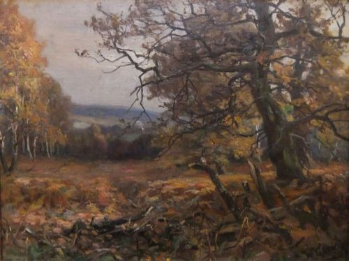 william greaves edwinstowe sherwood forest oil painting