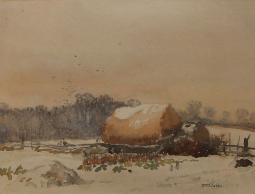 william lyons wilson the haystack watercolour
